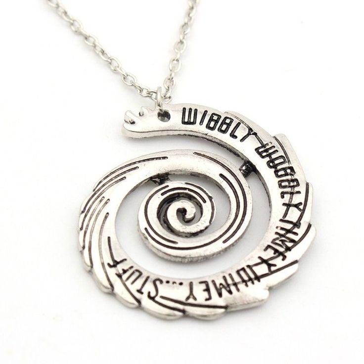 Doctor Who Wibbly Wobbly Timey Wimey Spiral Pendant Necklace