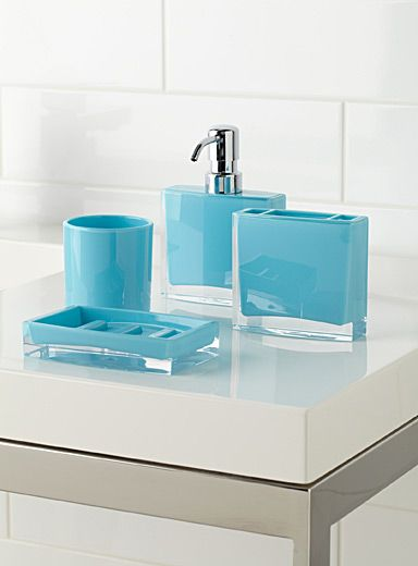 turquoise minimalist accessories kid bathroom