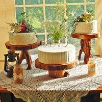 Rustic/rural themed wedding cake trio by Sweet Fascinations.