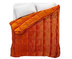 Trapunta matrimoniale invernale Lotar arancione - 270x260 cm