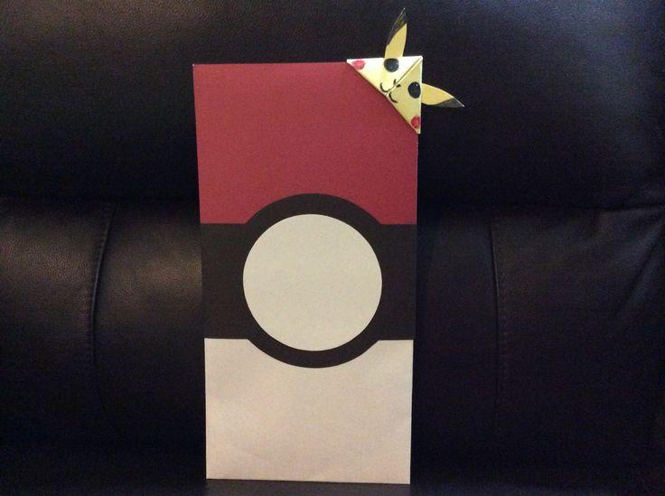 Pokémon birthday greeting card and Pikachu bookmark corner...