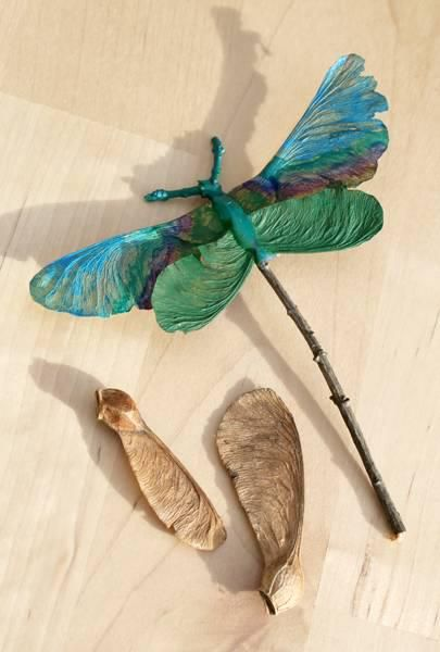 An idea for the Victorian Fairy Art packet - this nature art project is so clever! c'est (PAS) moi qui l'ai fait