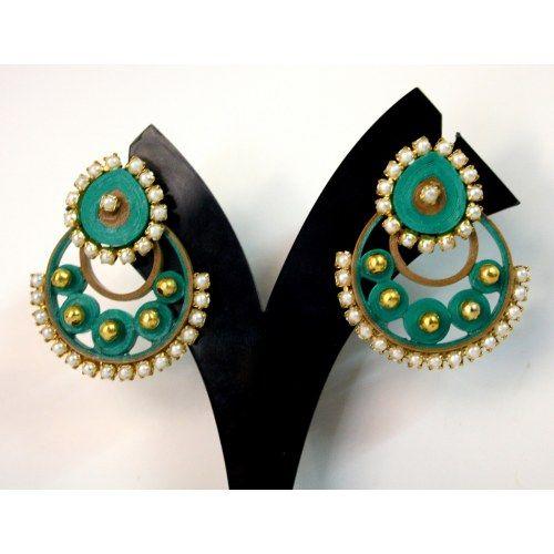 quilled party wear earrings Quilled earrings Pinterest