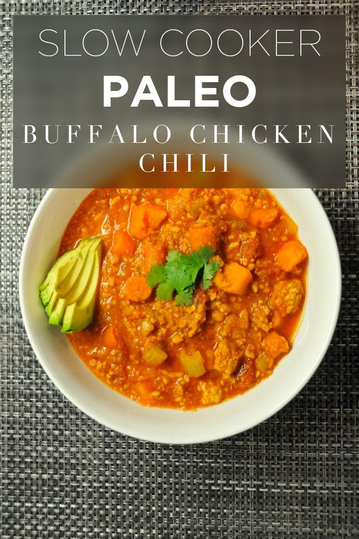 slow cooker paleo buffalo chicken chili