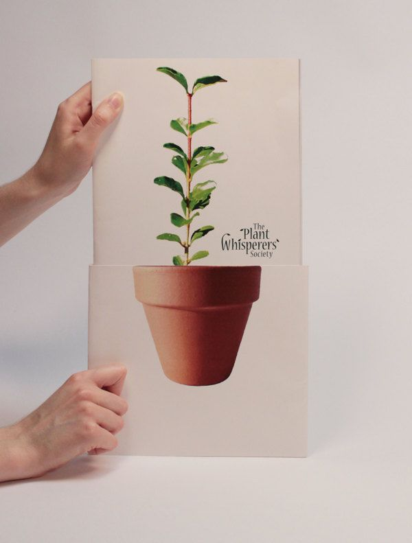 The Plant Whisperers Society - Annual Report by Jenna Russell, via Behance