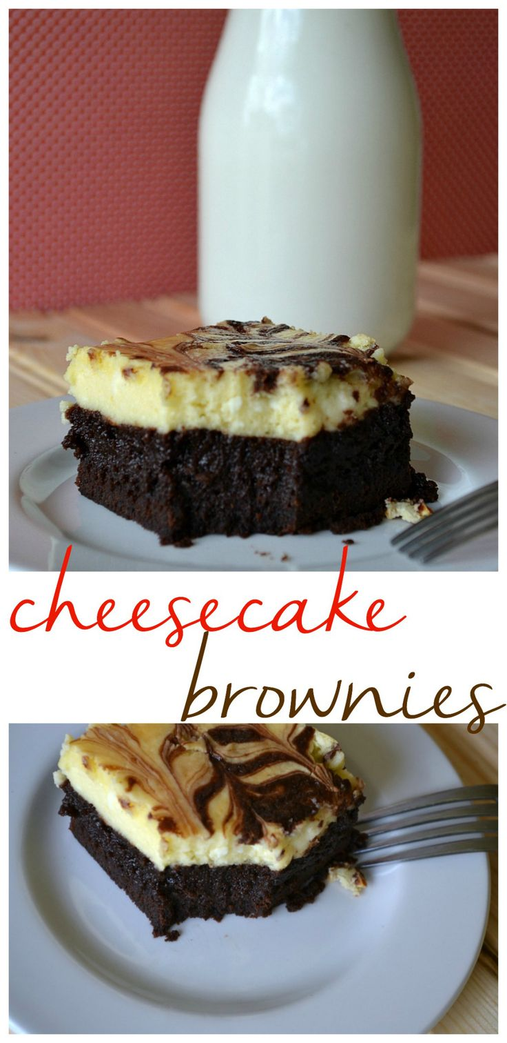 Cheesecake brownies: two delicious treats in one! A fancy dessert recipe that is so easy to make!