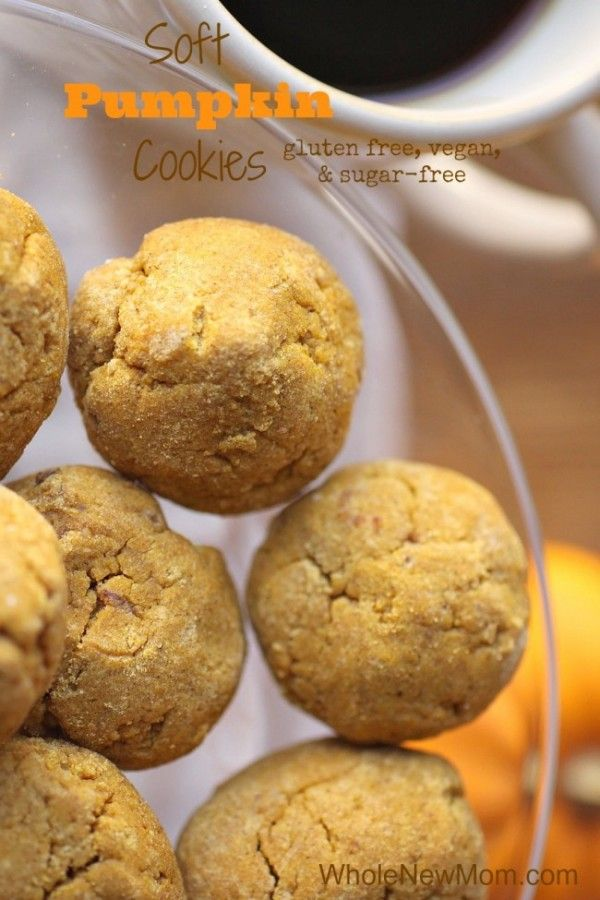 These Soft Pumpkin Cookies are gluten-free, vegan, and sugar free. We think they taste like Enjoy Life Brand! YUM!