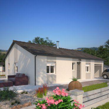 Plan maison neuve à construire - Maisons France Confort Open Plain-pied 103 Design Rhône