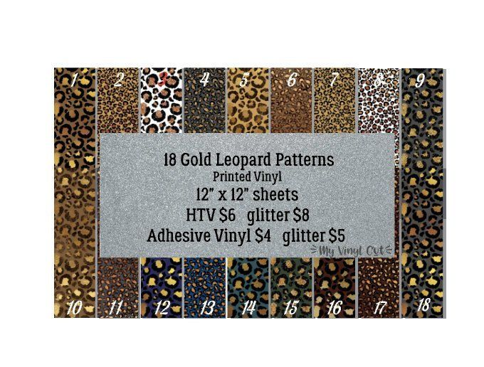 Floral Pattern #1 Adhesive Vinyl or HTV for Crafts Scrapbooking or Shirts Flower