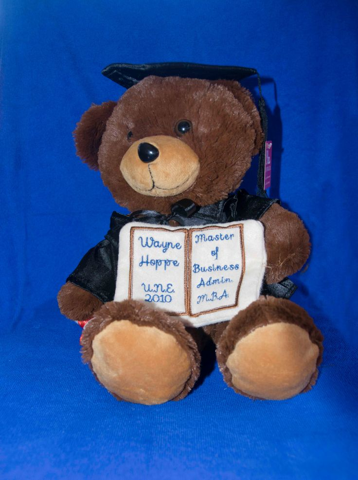 Graduation Bear, Graduation Gift for Him, Graduation Gift for Her by GiftsbyRaindrops on Etsy