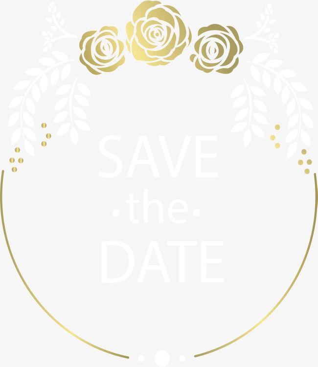 Gold Border Vector Png Wedding Invitation Card Golden