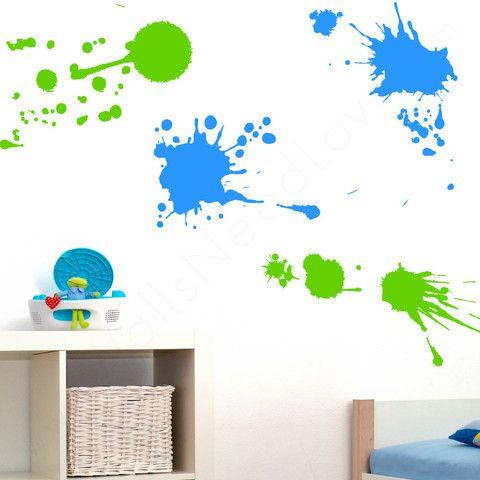 Paint Splatz Mount Wall Decal on wall in bedroom!!