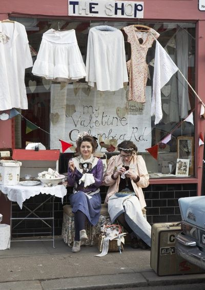 Jessie Chorley & Buddug: A gorgeous boutique selling illustrated, upcycled treasures. 158a Columbia Rd London E2 7RG