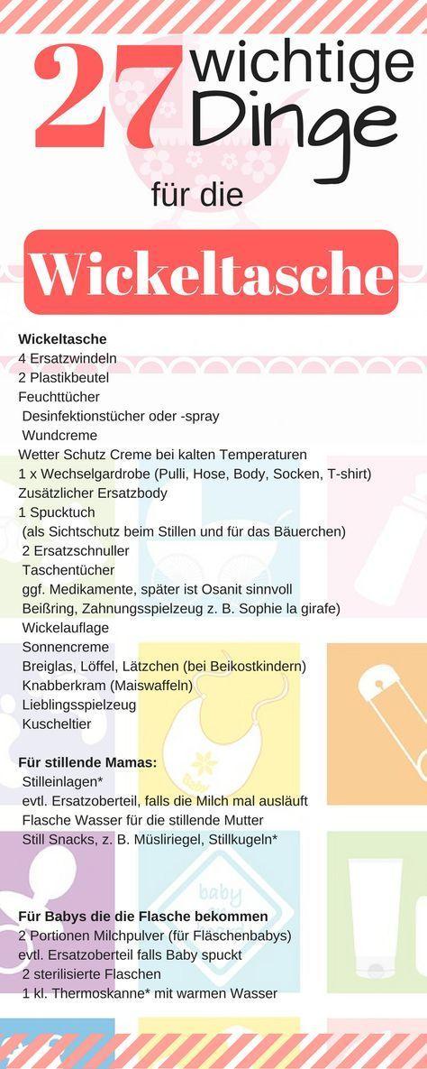 Checkliste Wickeltasche – Was gehört in die Wickeltasche? – Katja K