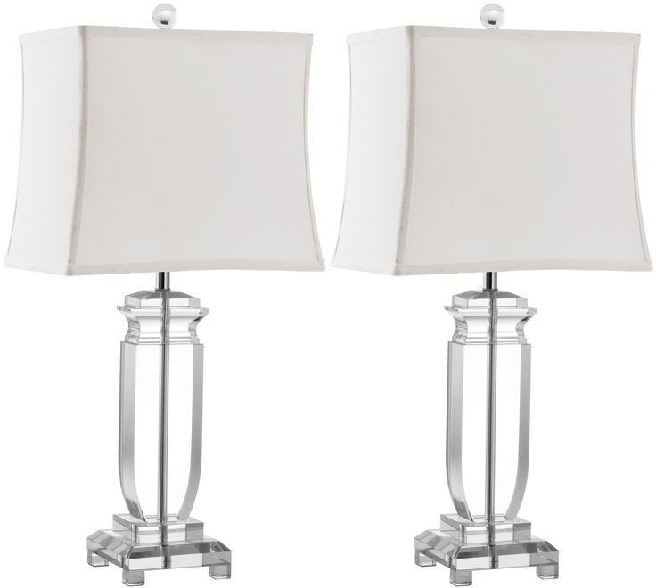 "Safavieh Olympia 25"" H Table Lamp with Rectangular Shade & Reviews 