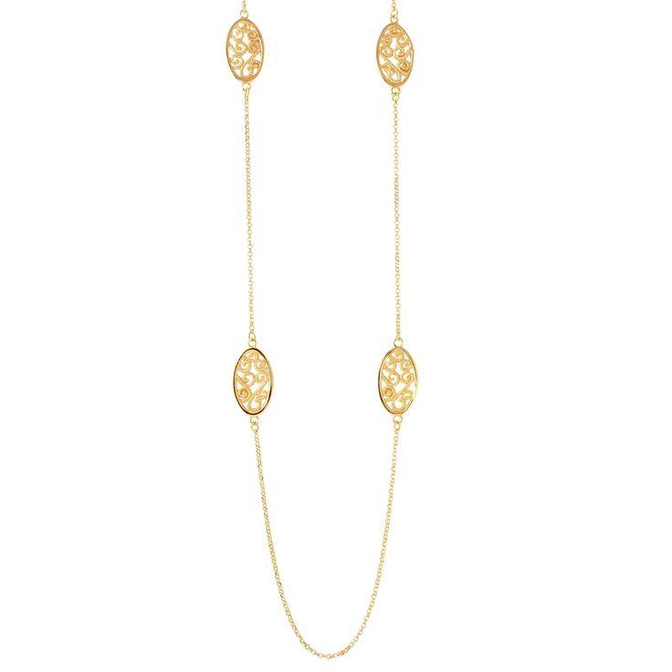 CHARLES GARNIER 36' OVAL FILIGREE NECKLACE - Michaels Jewelers