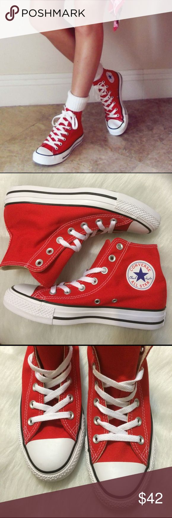 📍1 HOUR SALE📍CONVERSE WOMENS RED CHUCK TAYLORS Brand new without box. Price is firm Converse Shoes Sneakers