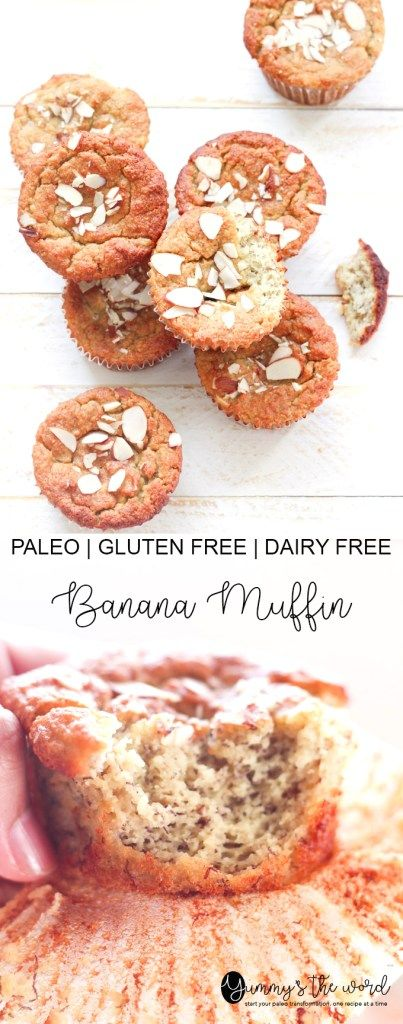 These Paleo Banana Muffins are so light and fluffy. They are my husband's favourite! Such a delicious way to start the day!