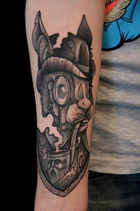 Rabbit Tattoo by Mitch Allenden