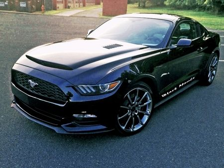 ford mustang black mamba ram air hood 2015 2016 - Ford Mustang 2016 Black