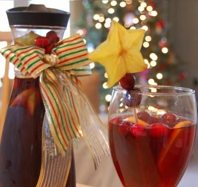 Holiday Sangria - 10 Holiday Christmas Themed Drink Recipes!