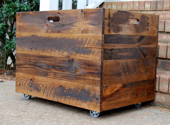 Tall Extra Large Wooden Crate/ Toy Chest/ by LooneyBinTradingCo, $220.00