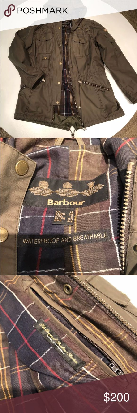 Womens Barbour Winter Twill Force Parka US 8 UK 12 Women's Barbour coat in awesome condition! Literally no flaws throughout the whole jacket. Very stylish and practical. Measurements are available above! 100% authentic! Barbour Jackets & Coats
