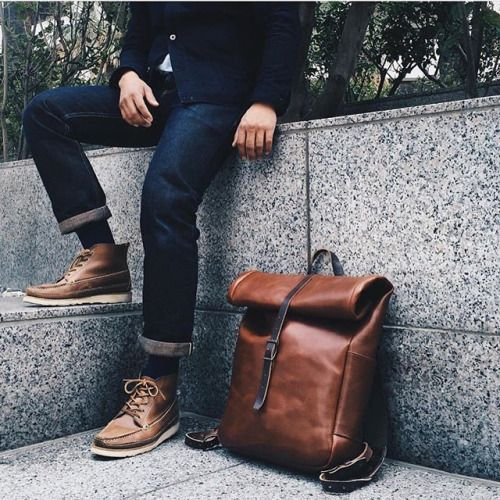 all of it // menswear, mens style, mens fashion, denim, boots, backpack