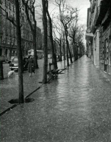 Calle Serrano en 1957