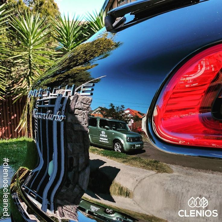 View from the office today. #clenioscleaned #porsche #Macan #black #gloss #shine #drycleaningforcars #clenioscube #cubehunter #sydney #Australia