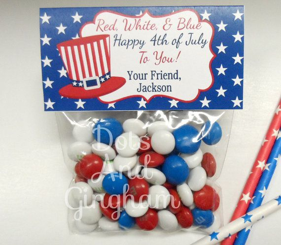 Fourth Of July Printable Treat Bag Toppers 4th of July by DotsAndGingham, $8.00
