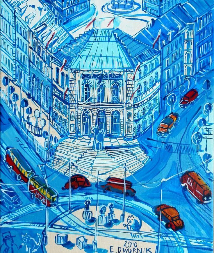 "ArtGalery ° PERSONALART.PL tytuł: ""Politechnika"" autor: Edward Dwurnik https://www.personalart.pl/edward-dwurnik"