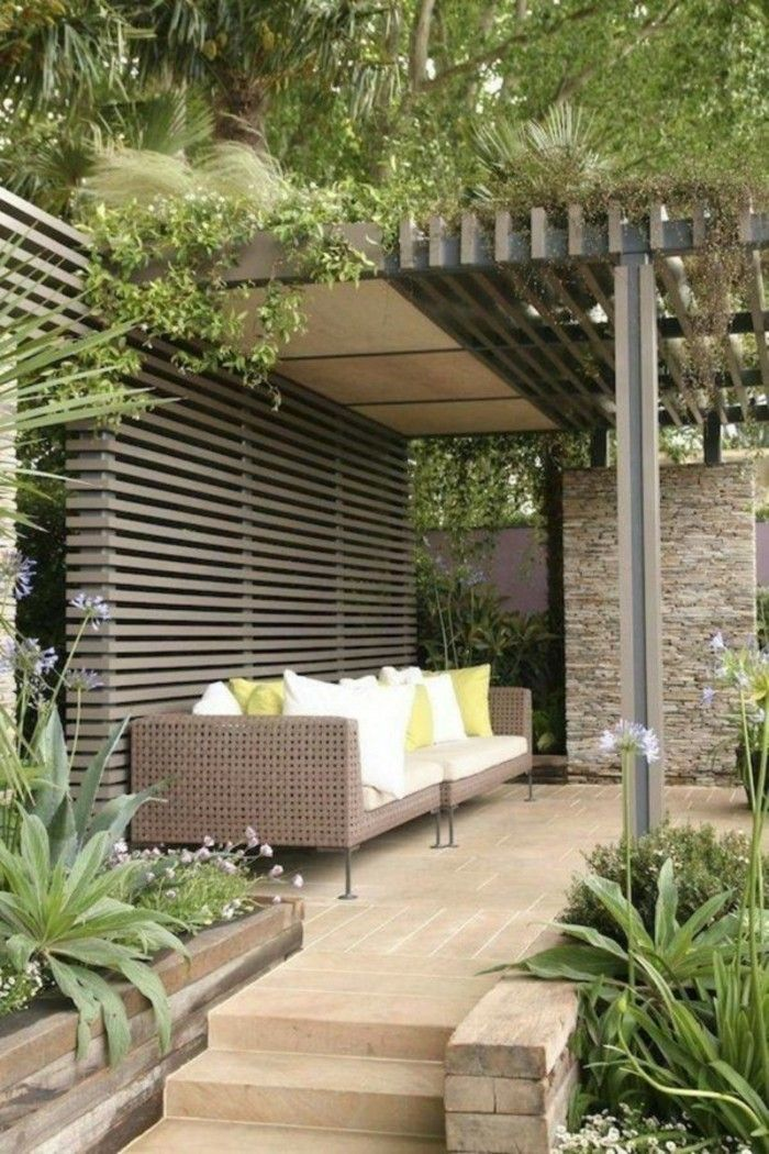 1005 best Garten images on Pinterest Small gardens, Backyard patio - holz pergola garten moderne beispiele