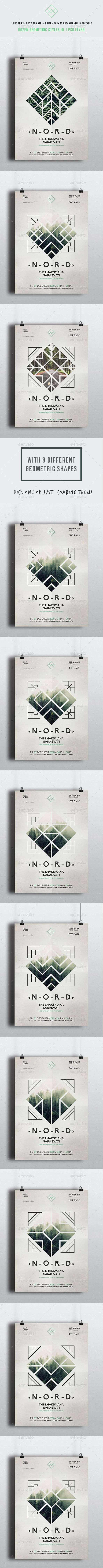 Geometric Alternative Flyer Template PSD. Download here: graphicriver.net/...