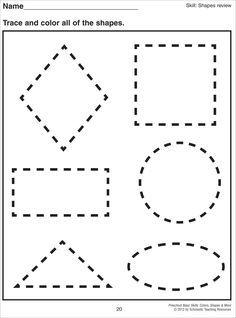 math worksheet : 1000 images about preschool  shapes on pinterest  shape shape  : Pre K Tracing Shapes Worksheets