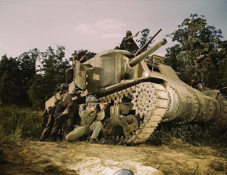m3 lee tank color photo 1941