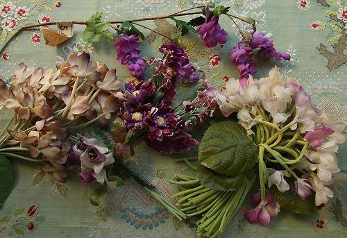 Vintage Flapper Hat Bloom Violet Velvet Flowers Stamen Lilac Gorgeous Doll | eBay
