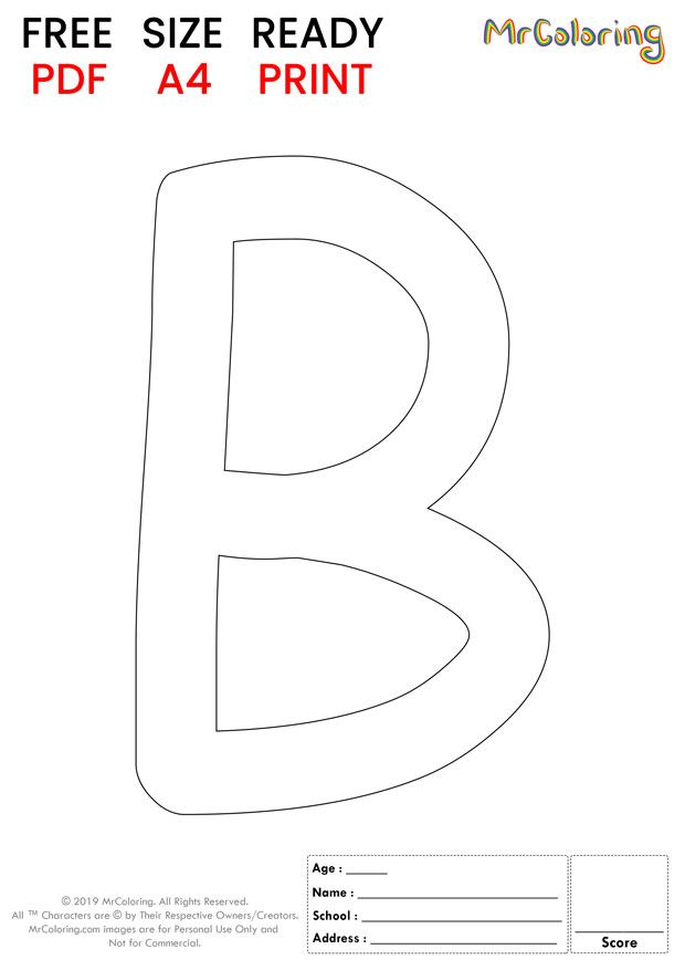 Alphabet Letter B Coloring Pages Uppercase Or Capital Cartoon For Kids Alphabet Le Lettering Alphabet Letter B Coloring Pages Free Printable Alphabet Letters