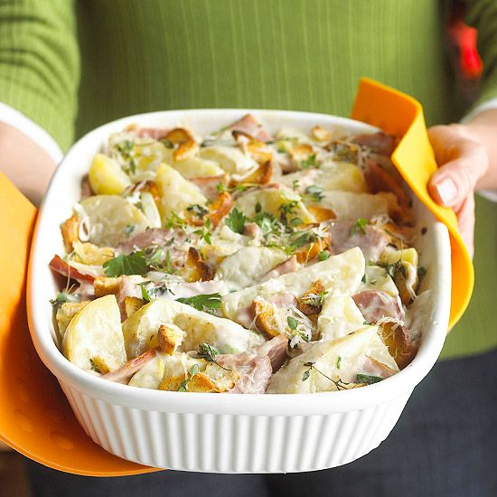 Creamy Potato Casserole. With country onion & chive or herb & garlic or herb de Provence