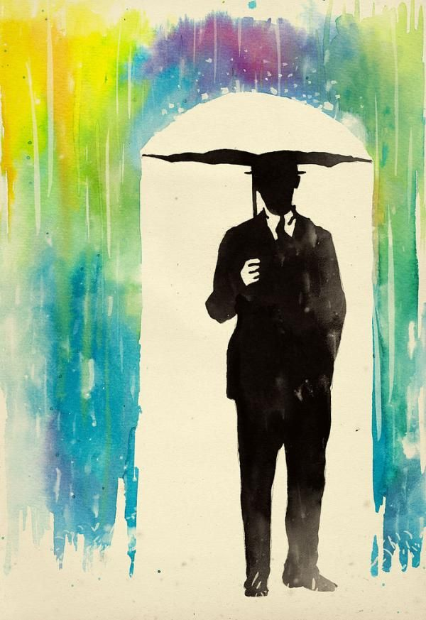.Negative Spaces, Fashion Models, Melted Crayons, Victoria Secret, Umbrellas Art, Water Colors, Rain, Watercolors Painting, Art Projects