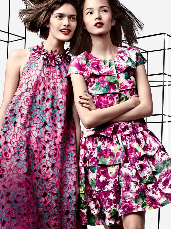 Geometric Floral Fashion Editorials - Craig McDean Shot and Editorial - Vogue US March 2014