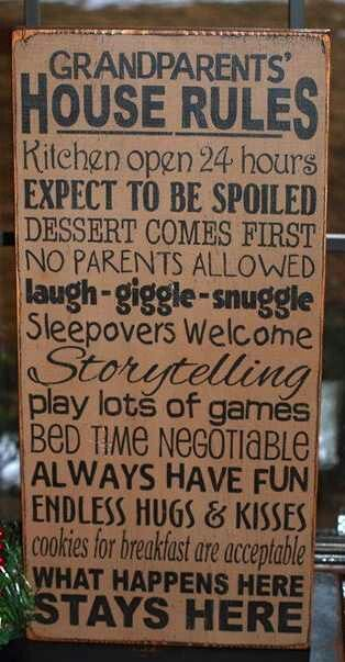 I'm lucky to have the in-laws and mom that I do. They respect my rules and make sure not to spoil them to much and have a bed time and stuff and my children still adore them to pieces!! I hope to be the grandparent and inlaw like them one day!!