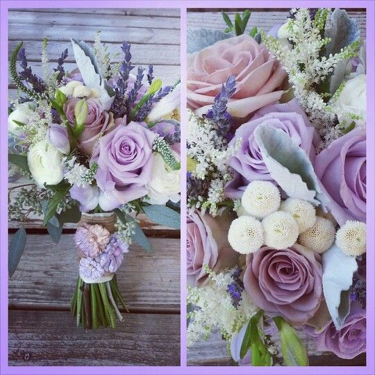Bridal bouquet of Amnesia roses, Ocean Song roses, button ...