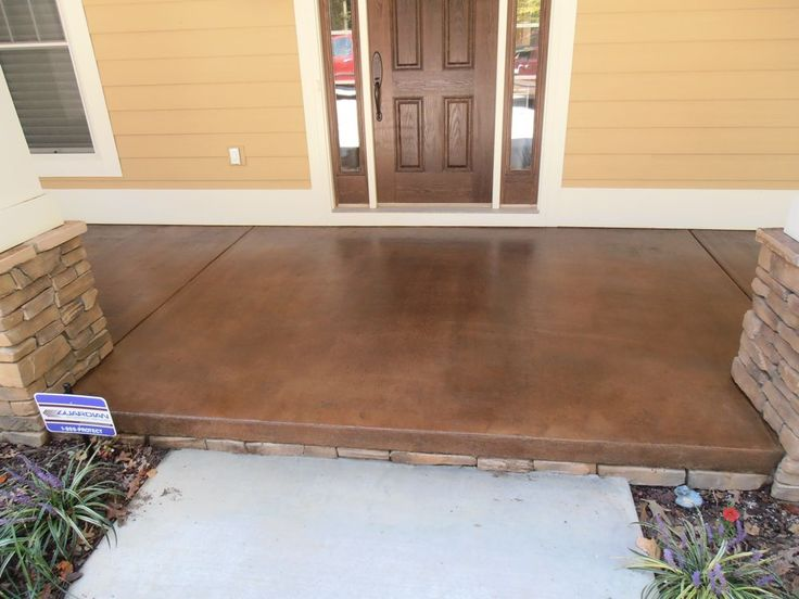 Stained concrete patio >> would make a big difference to our front patio