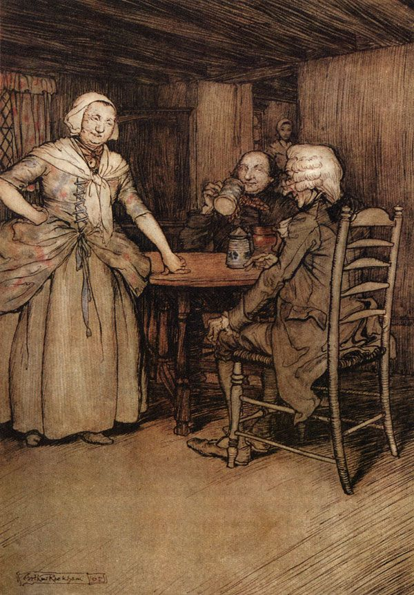 rip van winkle history hidden in -dame van winkle: married to rip, a nagging shrew-like wife -wolf(dog): rip's dog, whipped by dame winkle -peter vanderdonk: old sage -diedrich knickerbocker: made-up author who traveled to hidden dutch coves to find old stories.