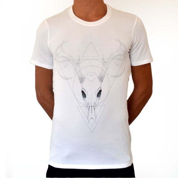 Deer Skull - printed t-shirt (men)