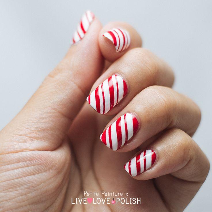 Petite Peinture: Candy Cane Nail Art Tutorial