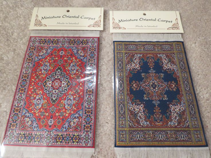 """From left to right are the 4"""" x 6"""" carpets SM7 and SM8."""