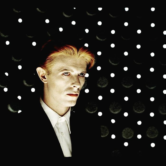 David Bowie on the set of 'The Man Who Fell to Earth'