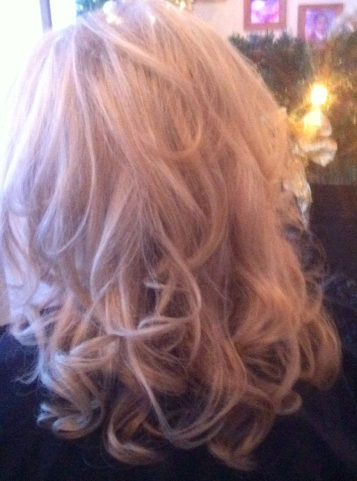 Big Bouncy Curly Blowdry Curly Wavy Blowdry